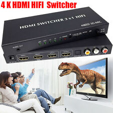 4K HDMI HIFI Switch Switcher Selector Box 3 In 1 HDMI Audio Extractor Splitter