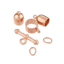 Bullet Shape Kumihimo Finding Set (6mm) - Copper Plate (K27/3)