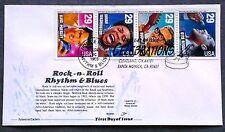 1993 Rock Roll Rhythm Blues FDC Booklet Pane of 4 Unaddressed Aristocrat Cachet