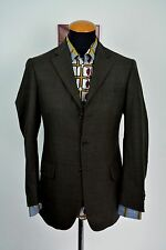 Vitale Barberis Canonico Mens Blazer 38R Plaid Jacket Wool Checks gr. 48 Arnold