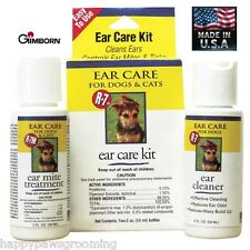 Gimborn R-7 Ear Care Cleaner/Odor Remover/Wax Remover/Mite Treatment KIT DOG CAT