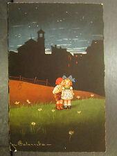 cpa illustrateur colombo romantique nuit