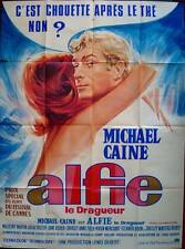 ALFIE French Grande movie poster 47x63 MICHAEL CAINE Unique Art Michel Landi