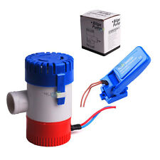 "1-1/8"" Outlet 12V 1100GPH Submersible Bilge Pump Bilge Float Switch Marine Boat"