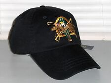 POLO RALPH LAUREN Men's Pony Crest Chino Hat, Sport Baseball Ball Cap, Black NWT