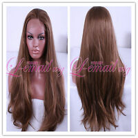 70cm color  #18/27 long straight lace front wig hair high qulity in stock LC18