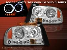 DODGE DAKOTA DURANGO HEADLIGHTS LED 2 HALO 1997 1998 1999 2000 2001 2002 - 2004