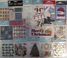 Scrapbooking Stickers Lot Jolee's EK Success CHRISTMAS Crafts