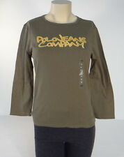 Polo Jeans Company Ralph Lauren Green 3/4 Sleeve Tee Shirt Womens Medium M NWT