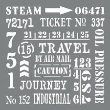 "Andy Skinner DecoArt Stencil 8""x8"" Industrial Elements journal mixed media craft"