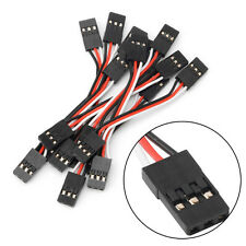 10pcs 5cm Male to Male Quadcopter Servo Extension Lead Futaba JR Wire Cable New