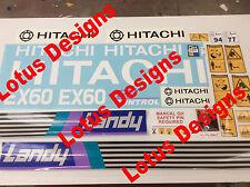 Hitachi EX60-1 Digger Stickers / Decals