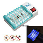 LED Electronic Mosquito Repeller Killer Light Fly Insect Pest Trap Night Lamp