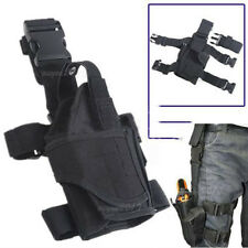 Adjustable Waterproof Tactical Puttee Thigh Leg Pistol Gun Holster Pouch Black