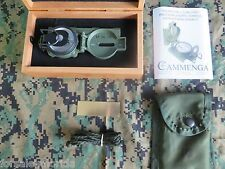 NEW - US MILITARY LENSATIC TRITIUM COMPASS MODEL 3H OD GREEN + PRESENTATION BOX
