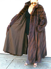 DESIGNER Couture REVILLON Mahogany SWING COAT ~ MAGNIFICENT MINK FUR L - XL ~