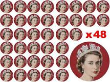 48 x 3cm Queens 90th 90 Birthday Party Fairy Cup Cake Toppers Edible Rice Paper