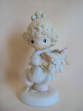 VINTAGE 1989 PRECIOUS MOMENTS LORD HELP ME STICK TO MY JOB GIRL FIGURINE NO BOX