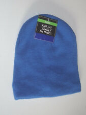 KIDS BLUE FLEECE CHILDRENS HAT CHILDS SCULL HEAD CAP SOCK /@@ SEE MY OTHER ITEMS