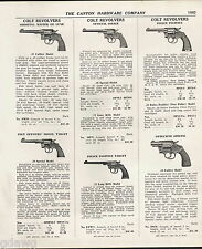 1939 ADVERT Colt Revolver Police Positive Detective .38 Caliber Savage Telescope