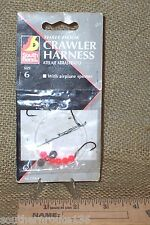 Vintage Fishing Lure Three Hook Crawler Harness Size 6 In Original  Pkg SV5BX6