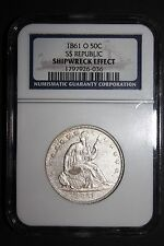 1861 O Seated Liberty Half Dollar From the SS Republic Shipwreck NGC Certified!