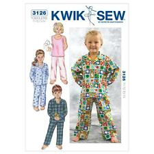 KWIK SEW SEWING PATTERN TODDLERS' SLEEPWEAR SIZE T1 T2 T3 T4 K3126