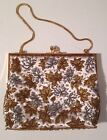 Vintage Richere Bag By Walborg Walberg Hong Kong Silver Gold Maple Leaf Beaded