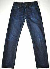 "EP'S Men's Dk Blue Selvage Denim Jeans Size 33 Actual Measurements W32"" L32 1/4"""