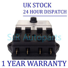 NEW 4 WAY UNIVERSAL STANDARD 12V 12 VOLT ATC BLADE FUSE BOX / COVER KIT CAR