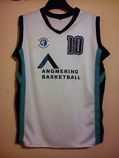 MATCH WORN BASKETBALL JERSEY VEST TANK TOP ANGMERING SCHOOL WEST SUSSEX SIZE