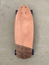Mini Cruiser Skateboard -  Half Moon Dark (23x8) solid wood - Mahogany & Walnut