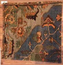 """Pottery Barn Joya Print Velvet 20"""" Pillow Cover Blue Orange Taupe NWT"""