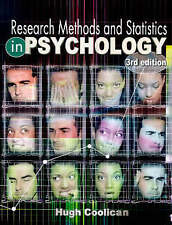 Research Methods and Statistics in Psychology, Coolican, Hugh Paperback Book