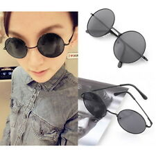 Unisex Vintage Retro Men Women Round Metal Frame Sunglasses Glasses Eyewear FT