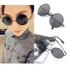 Unisex Vintage Retro Men Women Round Metal Frame Sunglasses Glasses Eyewear FT