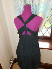 Simply Beautiful All Saints Seine Dress Washed Black Size 6 VGC