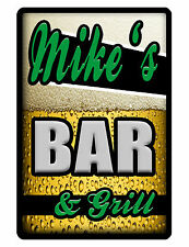 Personalized BAR and GRILL Sign Printed with YOUR NAME.Custom Bar sign ..grngril