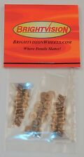 40 SILVER 2-56 Hex-Drive Button-Head Screw-In Rivets and 20 Washers For Customs