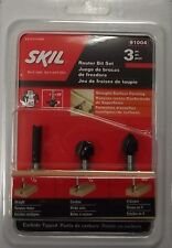 "SKIL 91004 Router Bit Set 1/4"" Straight 1/2 Corebox 90° VGroove Carbide Tip 3pc"