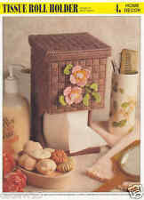 Tissue Roll Holder plastic canvas pattern ~ Annie's