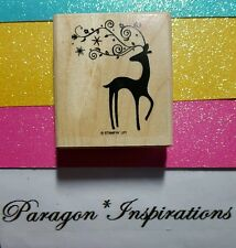 Retired Stampin Up DASHER Reindeer Deer Swirly Antlers Christmas Holidays