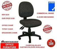 AFRDI RATED ERGONOMIC OFFICE TYPIST TASK CHAIR COMMERCIAL QUALITY - ON SPECIALS