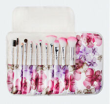 Pink Make Up Cosmetic Makeup Brushes Kit Set with Case - 12pcs Pink In Bloom