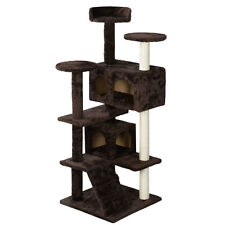 New Cat Tree Tower Condo Furniture Scratch Post Kitty Pet House Play Brown