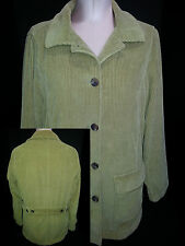 L.L. Bean Corduroy Jacket Coat Removable Quilted Liner Size S Small Medium Green