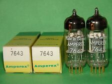 Matched Pair Amperex PQ D-Getter 7643  Vacuum Tubes Results = 2035 2000