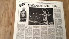 Paul MaCartney Wings Live & Let Die review 1973 UK ARTICLE / clipping