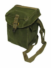 British Army WWII WW2  Vintage Small Canvas Gas Mask Bag