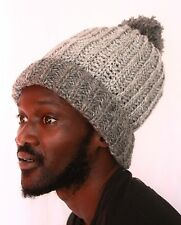 Strick Mütze XL mit Bommel_Wolle_Dreadlock hat knitted with bobble_Rasta
